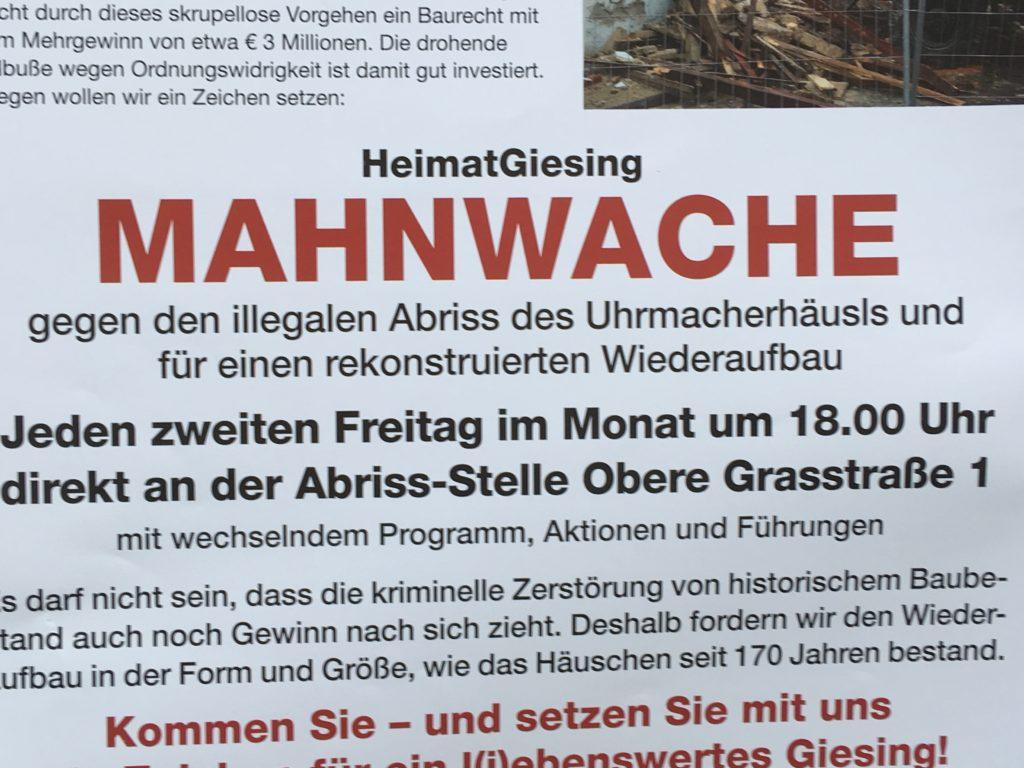 Uhrmacherhäusl: Der Gentrifizierung den Kampf ansagen!