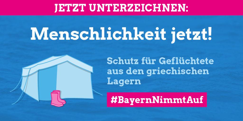 Staatsregierung leistet kaum humanitäre Hilfe: Bündnis #Bayernnimmtauf fordert Aufnahmeprogramm